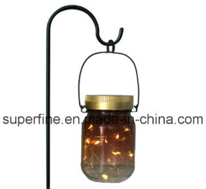 Home Decoration Romantic LED Solar Fairy Flickering Light Jar pictures & photos