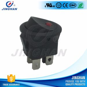 Kcd1-224 Waterproof Illuminated Round Rocker Switch T85 pictures & photos