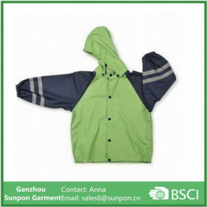 Children′s Raincoat Made of PU Material pictures & photos