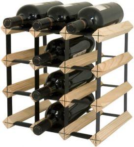 12 Bottle Wooden Wine Rack, Wine Bottle Holders pictures & photos