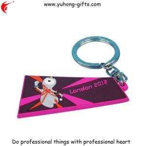 Advertising Gift Soft PVC Rubber Key Ring for Promotion (YH-KC083) pictures & photos