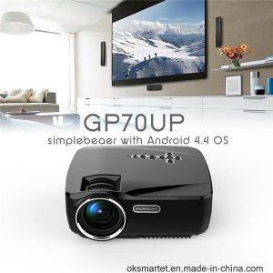 Wireless Portable Mini LED Projector Gp70up 1080P 1200 Lumens Bluetooth WiFi TV Beamer pictures & photos