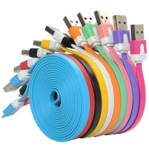 Magnetic 8pin Lightning Cable LED Retractable Flat Light Cable for iPhone Samsung Mobile Phone Braided Cable pictures & photos