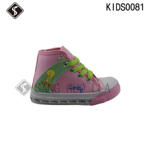 Kids Canvas Sports Sneaker Walking Shoes pictures & photos