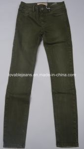 9.1oz Green Straight Leg Pants (HYQ26-01C) pictures & photos