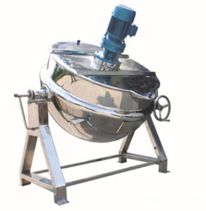 Tilting-Type Gas Jacketed Cooking Kettle Cooking Pot Soup Kettle pictures & photos