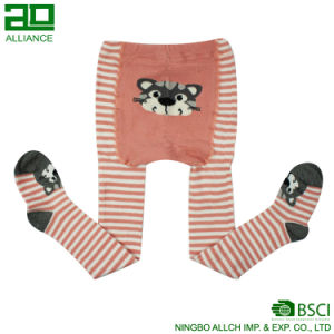 Stripe Cartoon Cotton Infant Tights pictures & photos