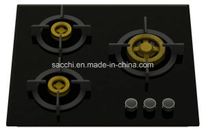 Supreme Elite 3 Brass Burner Gas Hob (8mm Glass)
