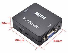 VGA to HDMI Converter Mini Size pictures & photos