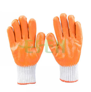 7gauge Palm Latex Coated Glove/ Cheap Labor Protection Latex Glove pictures & photos