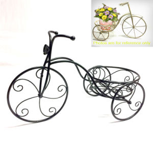 Metal Home and Garden Decoration Tricycle Flowerpot Stand Craft pictures & photos