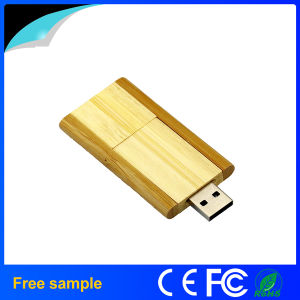 Wholesale 4GB Pendrive Rectangular Wooden Rotation Flash Disk pictures & photos