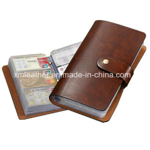 Brown PU Leather Credit Card Holder Card Slots pictures & photos