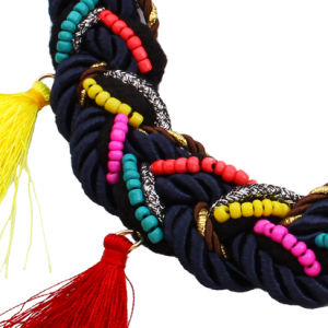 Fashion Bohemia Braided Beads Tassel Choker Necklace Jewelry pictures & photos