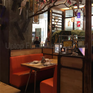 (SP-CS349) Uptop Customized Red Leather Restaurant Sofa Booth Seating pictures & photos