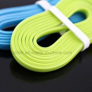 Five Colors Charger&Transfer Data Flat for iPhone USB Cable pictures & photos