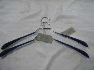 Blue PVC Metal Clothing Hanger pictures & photos