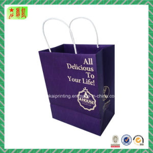 Paper Shopping Hangbag with Custome Design pictures & photos