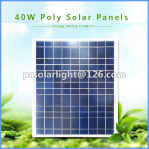 40W High Efficiency Poly Renewable Energy Saving Transparent Solar Cell pictures & photos