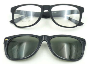 F17894 New Design Magnetic Glasses Polarized Lens Optical Glasses Clip on pictures & photos