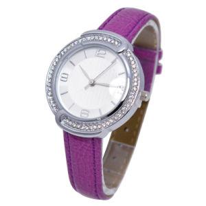 Purple Color with Japan Double Quartz Movement Alloy Waterproof Watch pictures & photos