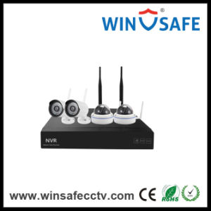 4CH NVR Wireless Home IP Bullet WiFi NVR Kits Camera pictures & photos