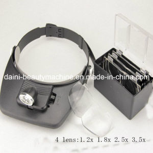 Headband Magnifier Glasses Loupe LED Lights pictures & photos