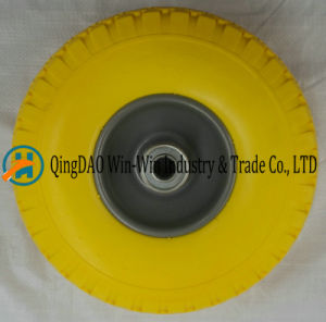 Flat Free PU Wheel for Hand Truck Tyre (3.00-4/300-4) pictures & photos