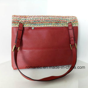 Brand Design Fashion Lady PU Leather Woven Handbags (NMDK-032803) pictures & photos