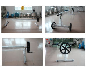 Stainless Steel Adjustable Swimming Pool Cover Roller Swimmng Pool Cover Reel with Wheels pictures & photos