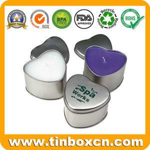 Heart-Shaped Tin Candle Can, Everyday Tin Box, Metal Travel Tin pictures & photos