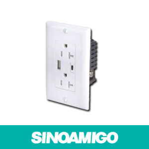 Sinoamigo 2 Port USB Charger Duplex Recetacle pictures & photos