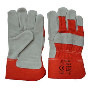 Ce En388 Cow Split Leather Cut Resistant Hand Protective Gloves for Riggers pictures & photos