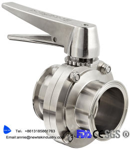 Sanitary Stainless Steel 316L Butterfly Valve Trigger Handle EPDM Seal pictures & photos
