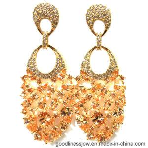 2017 New Design Fashion Earring Whit Orange Stone (E6885) pictures & photos