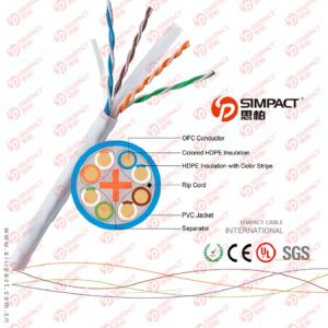 CAT6 Solid Bulk Cable - in-Wall Rated Jacket pictures & photos