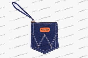 Denim Handbag with Handle Stamp Logo on PU Gift Promo Bag14oz Jean Pocket pictures & photos