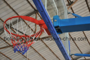 1800*1050*12mm Tempered Glass Backboard Blue Movable Basketball Stand pictures & photos