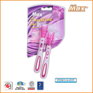 Triple Blade Disposable Shaving Razor for Lady pictures & photos