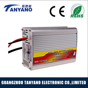 DC12V 10A Portability Car Battery Charger with Digital Voltmeter pictures & photos
