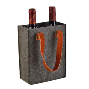 Hot Sale Custom Printed Felt One Bottle Wine Gift Bag pictures & photos