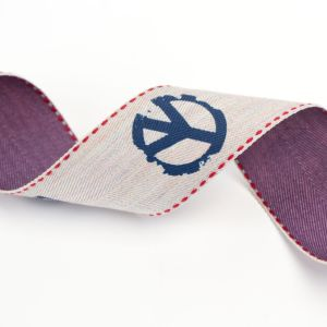 Three Colored Printed Ribbon for Garments and Bags pictures & photos