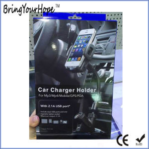 Car Smartphone Holder with Cigarette Lighter USB Charger (XH-UC-033) pictures & photos