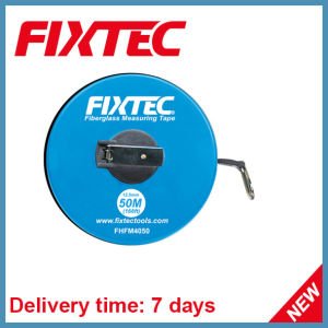 Fixtec Hand Tool Long Round ABS Plastics 50m Fiberglass Measuring Tape pictures & photos