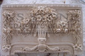 Floral Bouquet Ornate Marble Fireplace Mf1713 pictures & photos