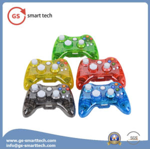 Double Vibration Wired Transparent Flash Game Controller for xBox 360 pictures & photos