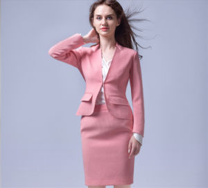 One Button Fashion Collar Design Pink Ladies Blazer pictures & photos