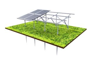 Anodized Aluminum Landscape 4 Rows Solar Ground Mounting System pictures & photos