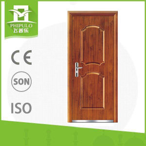 Cheap Main Metal Glass Steel Building Material Steel Door pictures & photos