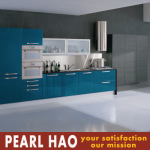 Modern Blue Lacquer Wood Kitchen Cabinet Furniture pictures & photos